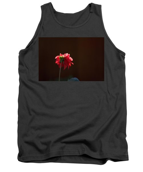 Black With Rose Tank Top