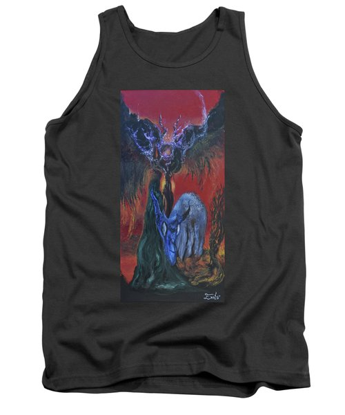 Tank Top featuring the painting Blackberry Thorn Psychosis by Christophe Ennis