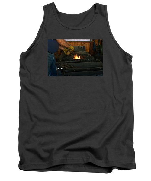 Blacksmith At Work Tank Top by Steven Clipperton