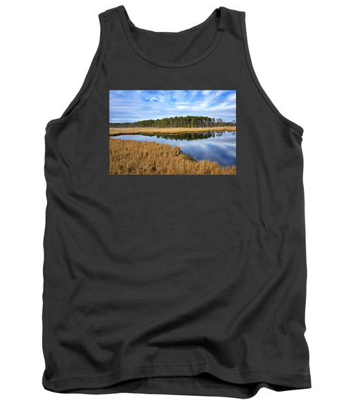 Tank Top featuring the photograph Blackwater National Wildlife Refuge In Maryland by Brendan Reals