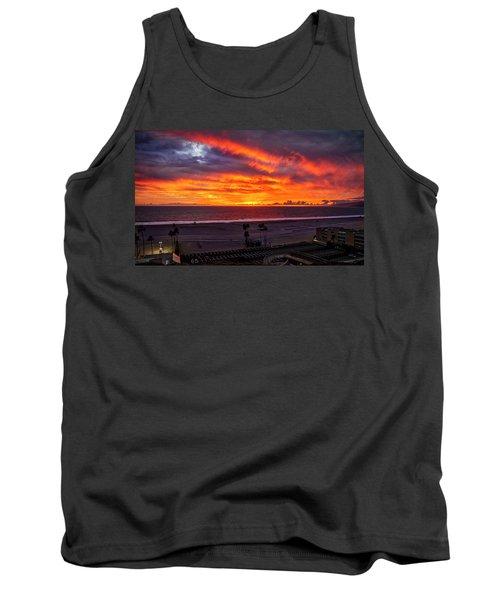Blazing Sunset Over Malibu Tank Top