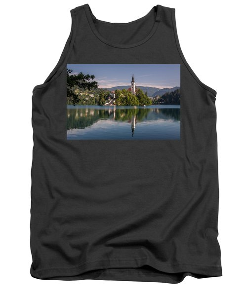 Tank Top featuring the photograph Bled by Davorin Mance