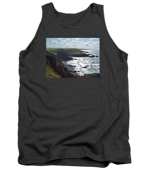 Blegberry Cliffs From Damehole Point Tank Top by Richard Brookes