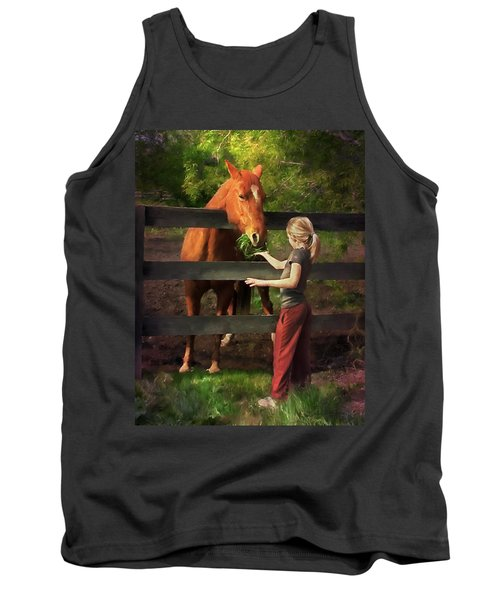 Blond With Horse Tank Top