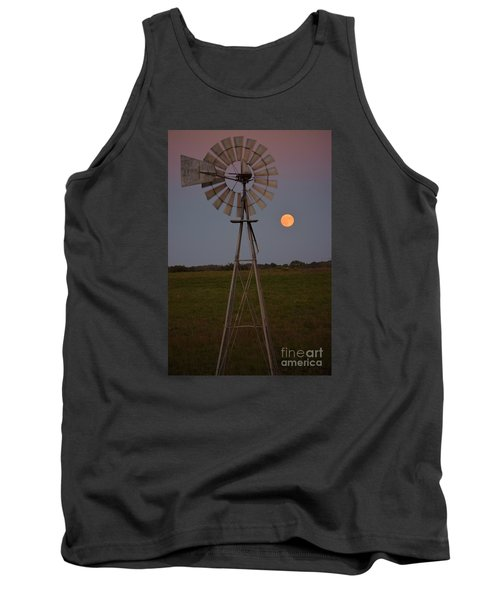 Tank Top featuring the photograph Blood Moon And Windmill by Mark McReynolds