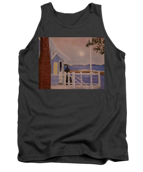Blood Moon Over Muscongus Sound Tank Top