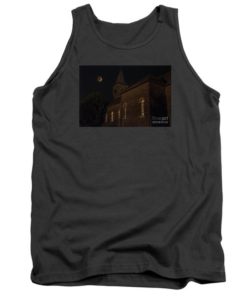 Tank Top featuring the photograph Blood Moon Over St. Johns Church by Keith Kapple