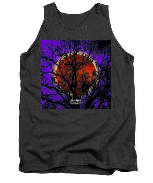 Tank Top featuring the photograph Blood Moon Trees by Barbara Tristan