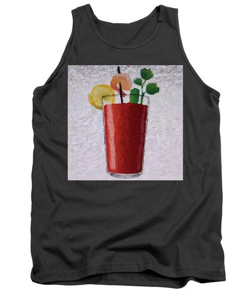 Bloody Mary Emoji Tank Top by  Judy Bernier