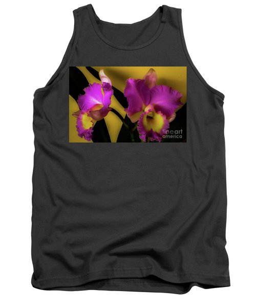Blooming Cattleya Orchids Tank Top