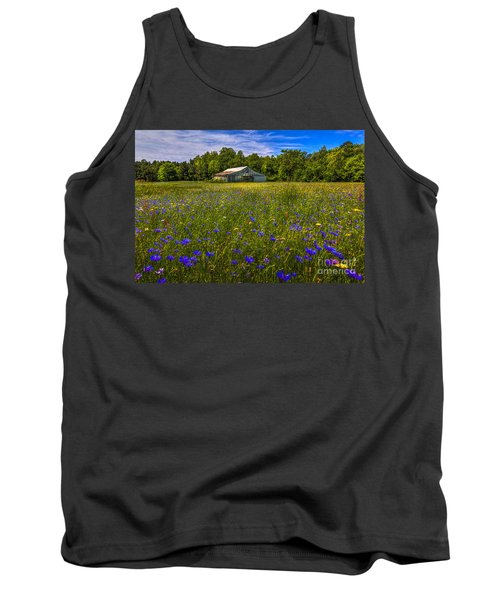 Blooming Country Meadow Tank Top by Marvin Spates
