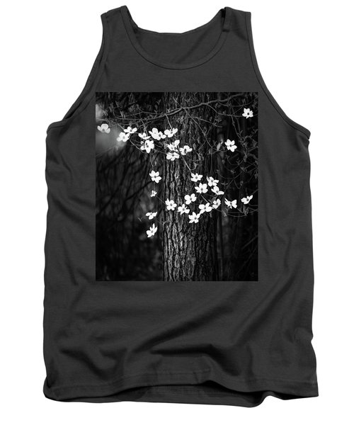 Blooming Dogwoods In Yosemite Black And White Tank Top