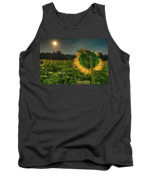 Blooming Sunflower Facing Rising Sun Tank Top
