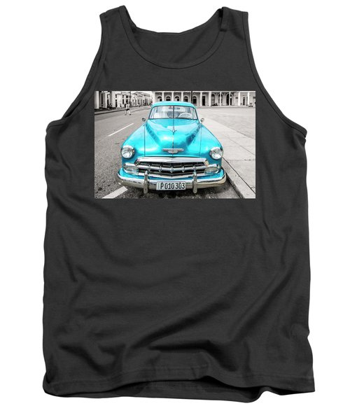 Tank Top featuring the photograph Blue 52 by Lou Novick