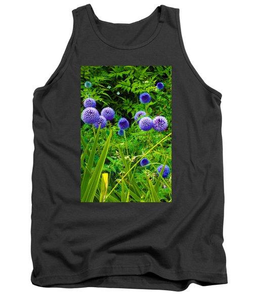 Blue Allium Flowers Tank Top