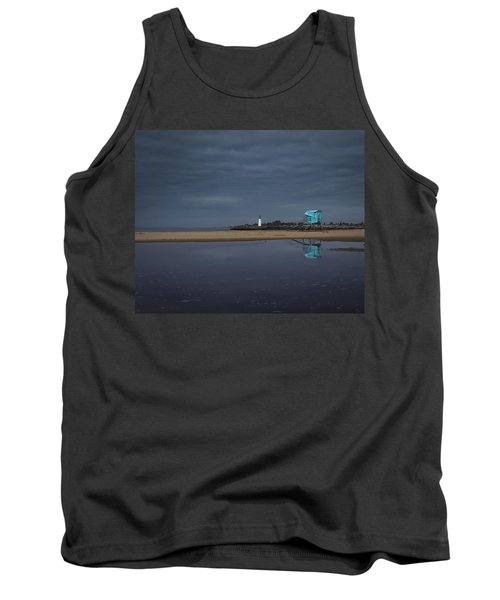 Tank Top featuring the photograph Blue And Grey by Lora Lee Chapman