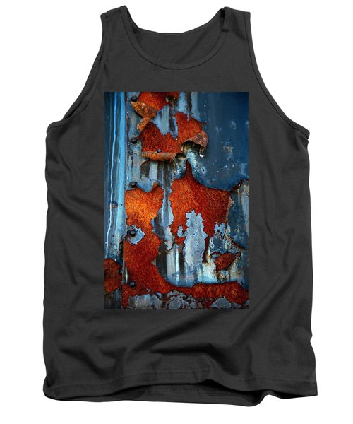 Tank Top featuring the photograph Blue And Rust by Karol Livote