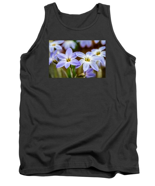 Blue And White Flowers  Tank Top by Martina Fagan
