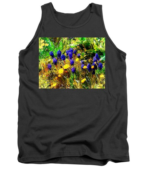 Blue And Yellow Wild Flower Medley Tank Top