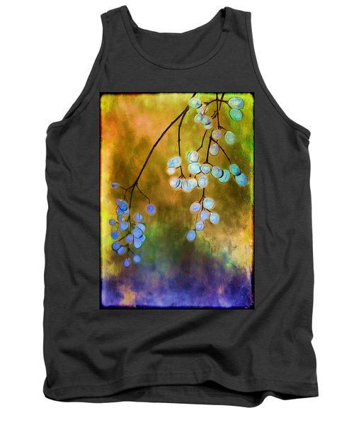 Blue Autumn Berries Tank Top