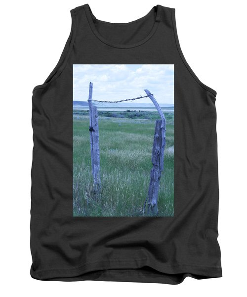 Blue Barbwire Tank Top