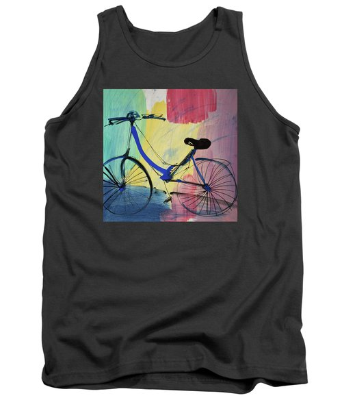 Blue Bicycle Tank Top by Amara Dacer