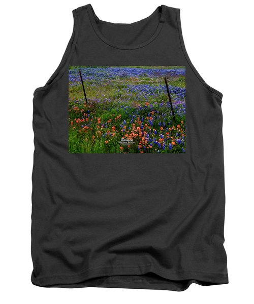 Tank Top featuring the photograph Bluebonnets #0487 by Barbara Tristan