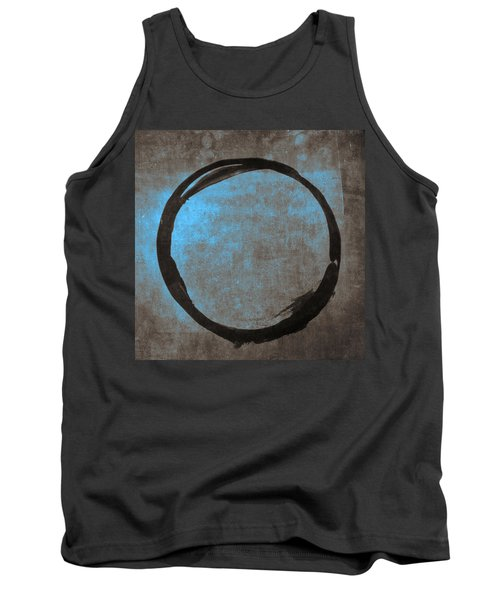 Blue Brown Enso Tank Top