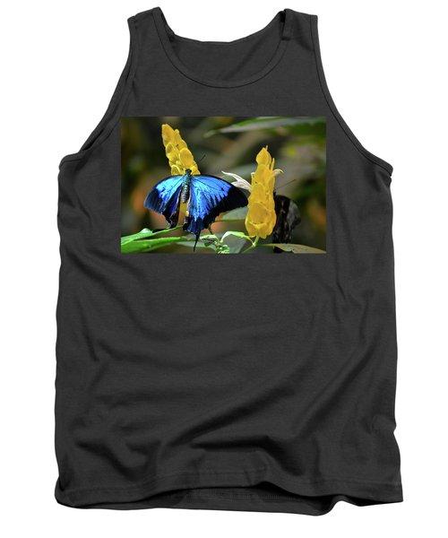 Blue Beauty Butterfly Tank Top