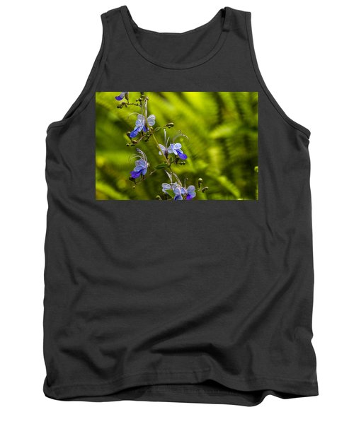 Tank Top featuring the photograph Blue Butterfly by Laura Roberts