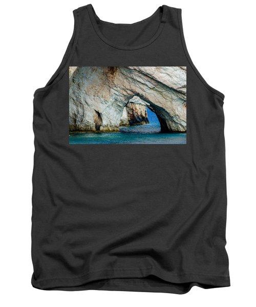 Blue Caves 1 Tank Top by Rainer Kersten