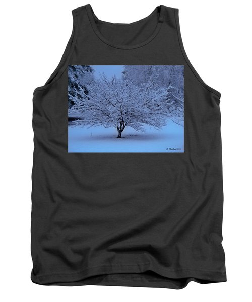 Tank Top featuring the photograph Blue Christmas by Betty Northcutt