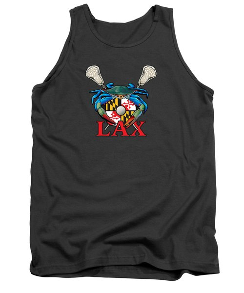 Blue Crab Maryland Lax Crest Tank Top