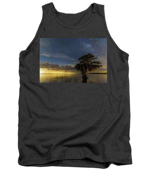 Blue Cypress Lake Nightsky Tank Top