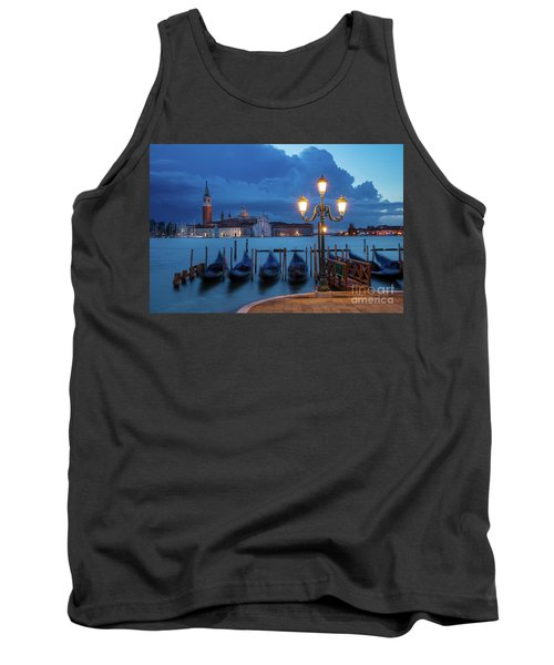 Tank Top featuring the photograph Blue Dawn Over Venice by Brian Jannsen