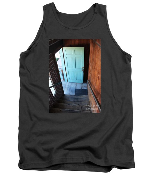 Tank Top featuring the photograph Blue Door by Cheryl Del Toro