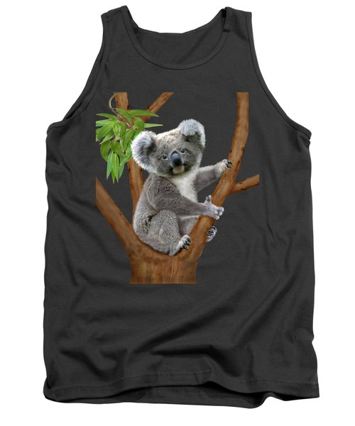 Blue-eyed Baby Koala Tank Top by Glenn Holbrook