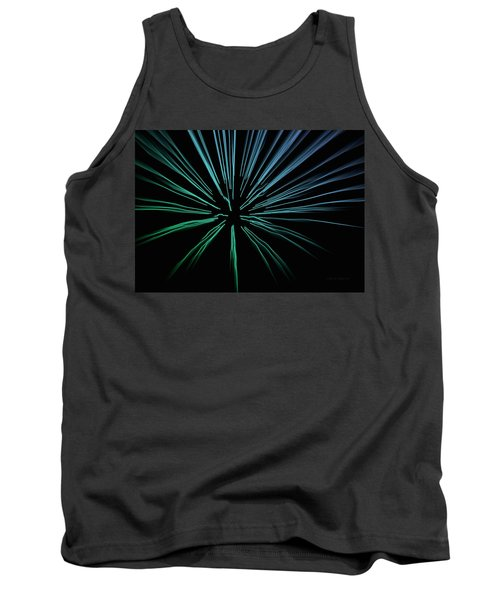 Tank Top featuring the photograph Blue Firework by Chris Berry