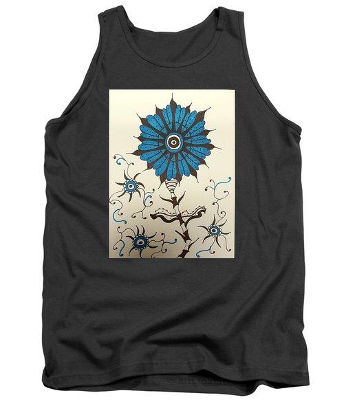 Blue Flower 1 Tank Top