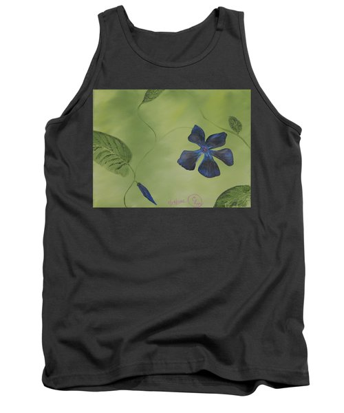 Blue Flower On A Vine Tank Top