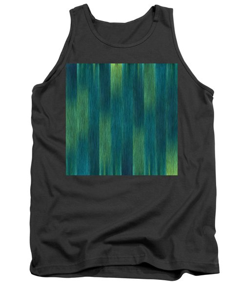 Tank Top featuring the photograph Blue Green Abstract 1 by Terri Harper