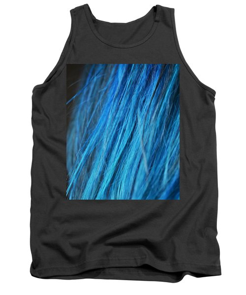 Blue Hair Tank Top