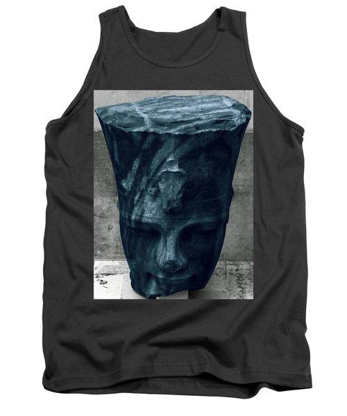 Blue Head Tank Top