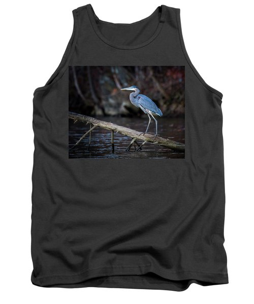 Tank Top featuring the photograph Blue Heron by Alan Raasch