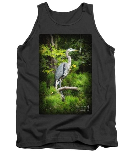 Tank Top featuring the photograph Blue Heron by Lydia Holly