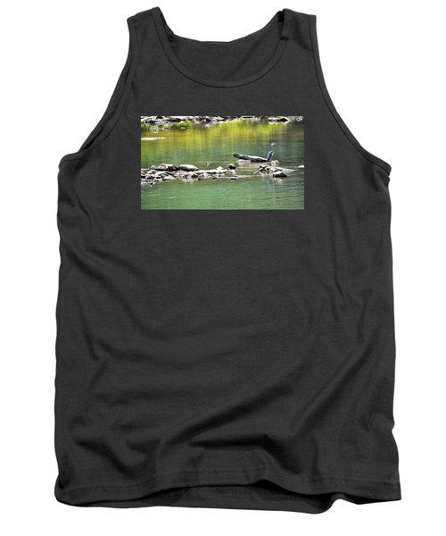 Blue Heron On The Chattahoochie Tank Top by James Potts
