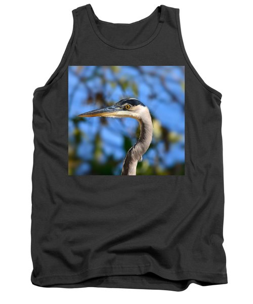 Blue Heron Profile Tank Top