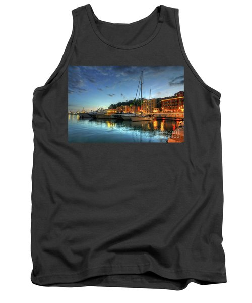 Tank Top featuring the photograph Blue Hour At Port Nice 2.0 by Yhun Suarez