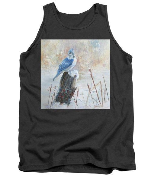 Blue Jay In Winter Tank Top