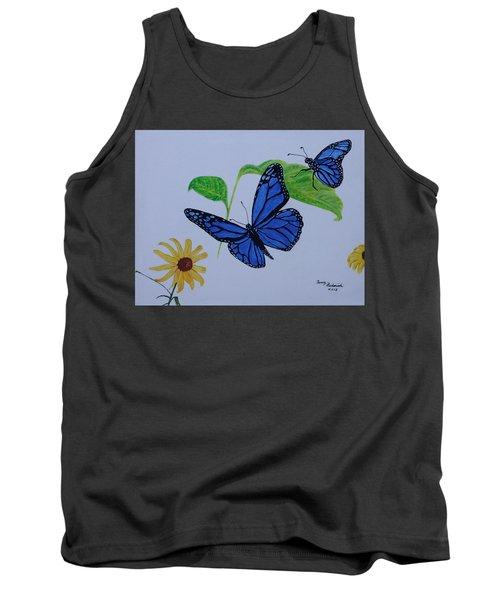 Blue Monarch Tank Top